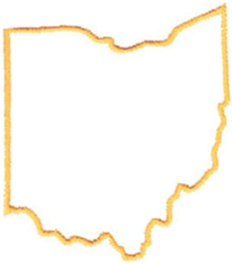 Outline Of Ohio Vector by Ohio Outline Embroidery Design Annthegran