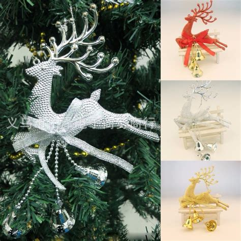 home christmas tree ornament deer chital hanging xmas