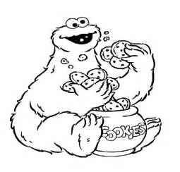 baby cookie monster face coloring sheet coloring pages