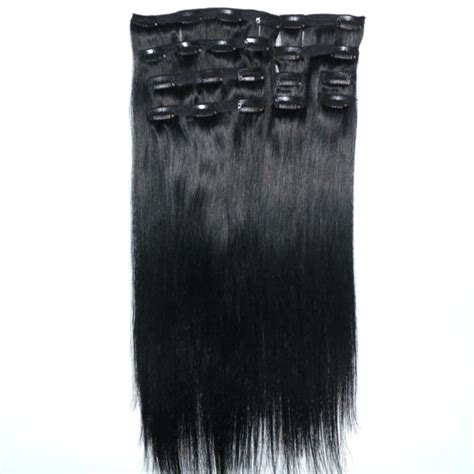 single clip in human hair extensions clip in human hair extensions from direct factory lumhair