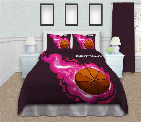 girls basketball bedding basketball comforter twin queen king purple by