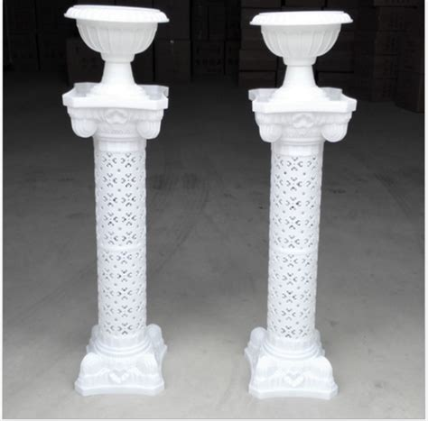 Plastic Pedestal sell 4 sets wedding stage pillars plastic pillars column pedestal decoration