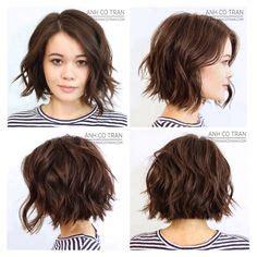 slighty shorter thansholder length womens hair style 25 trendy short textured haircuts to try wavy hair bob