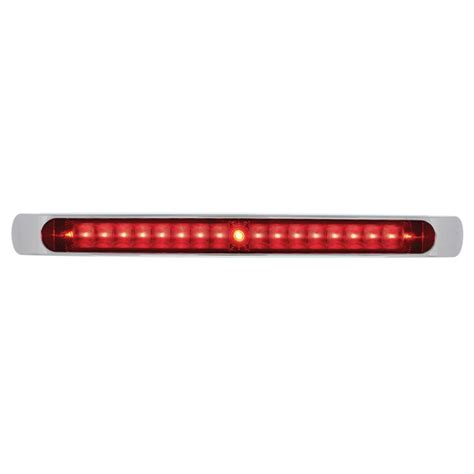 Led Brake Light Bar 17 Quot Led Light Bar With Chrome Bezel Led And Lens Stop Turn Light Ebay