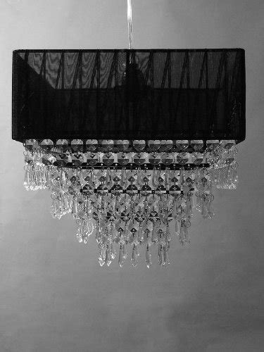 Black Square Chandelier 12 Black Square Fabric Chandelier With Like
