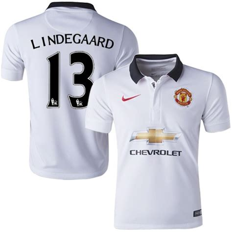 Jersey Original Inggris Away 13 14 youth 13 anders lindegaard manchester united fc jersey