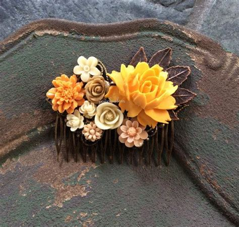 Yellow Wedding Accessories by Yellow Wedding Hair Accessories Golden Orange Mustard