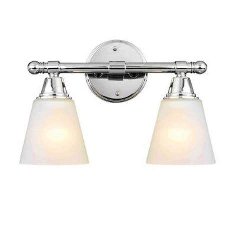 amazon bathroom vanity lights hton bay 2 light chrome vanity sconce amazon com