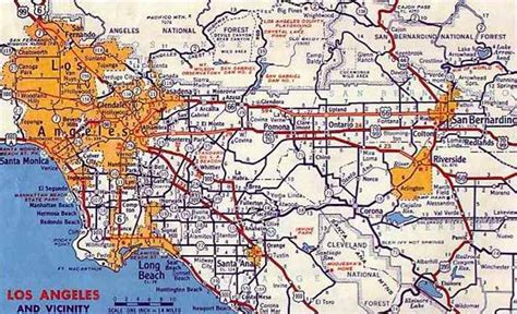 southern california highway map w7ftt