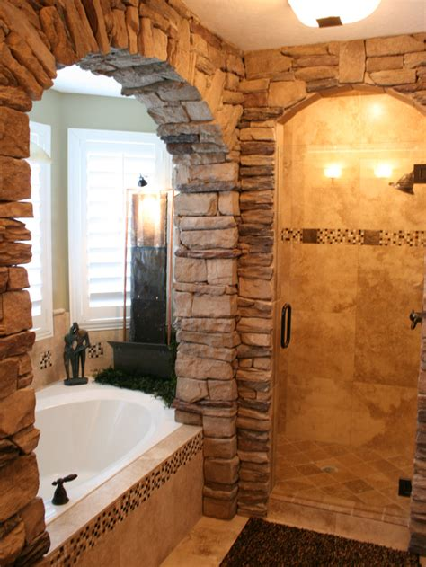 Rustic Tile Bathroom - 10 rustic spaces we love from hgtv fans interior design styles and color schemes for home
