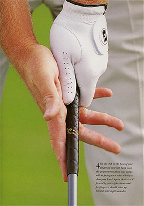 right hand grip in golf swing grip