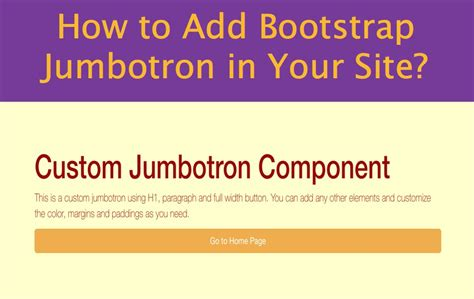 bootstrap tutorial jumbotron how to add bootstrap jumbotron in your site 187 webnots