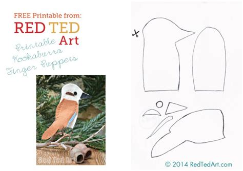 pattern maker gumtree kookaburra crafts song red ted art s blog