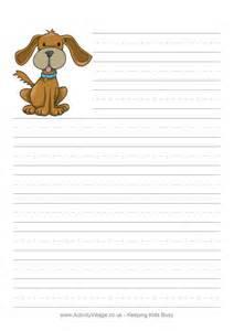 Dog Writing Paper Dog Writing Paper