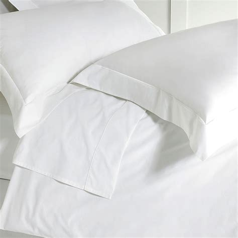 Bedsheet Flat Single 190 X 280 100 Cotton Tc 200 Plain bed sheets in white 220 thread count cotton percale