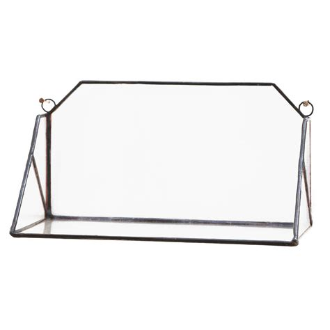 geometric glass wall shelf by paly glass