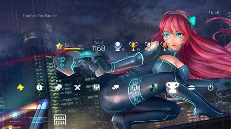 girl themes for ps4 xposed anime cyberpunk girl dynamic theme ps4 hd youtube