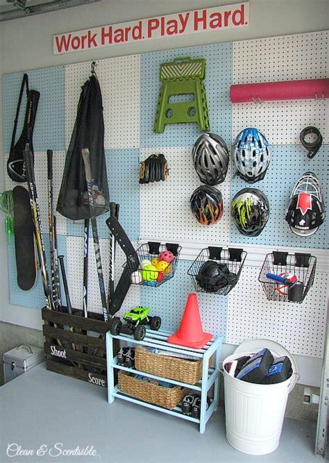 Garage Organization Sports Equipment Garage Organization Makeover Clean And Scentsible