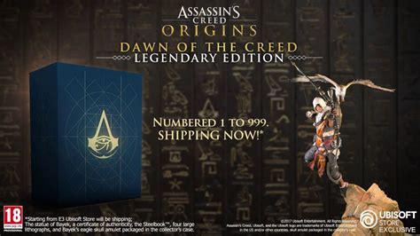 assassins creed origins collectors assassins creed origins collectors legendary editions youtube