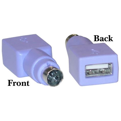 Usb To Ps2 Adapter Purple Usb To Ps 2 Keyboard Mouse Adapter Usb Type A Minidin6