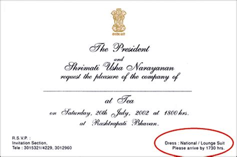 Invitation Letter Dress Code Rediff Kalam Introduces New Dress Code At Rashtrapati