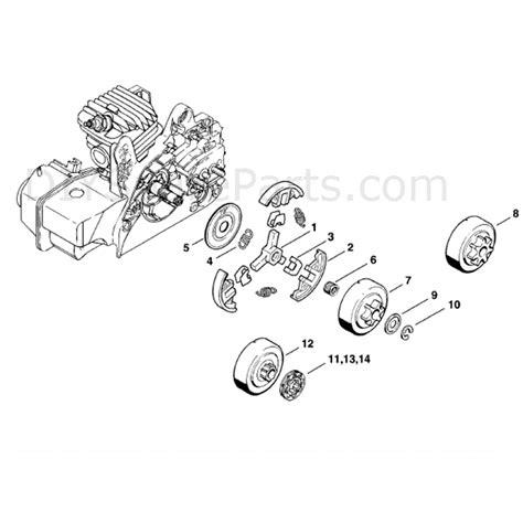 stihl ms 210 parts diagram stihl ms 210 chainbsaw ms210 parts diagram clutch