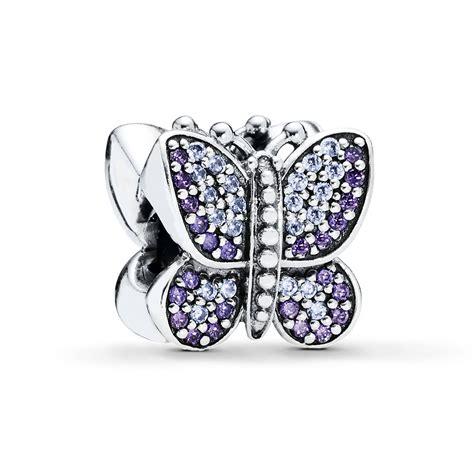 pandora bead jared pandora butterfly charm purple lavender cz