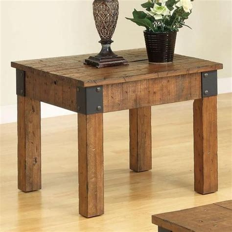 Decorative Furniture Brackets Antique Style Wood End Table With Decorative Metal