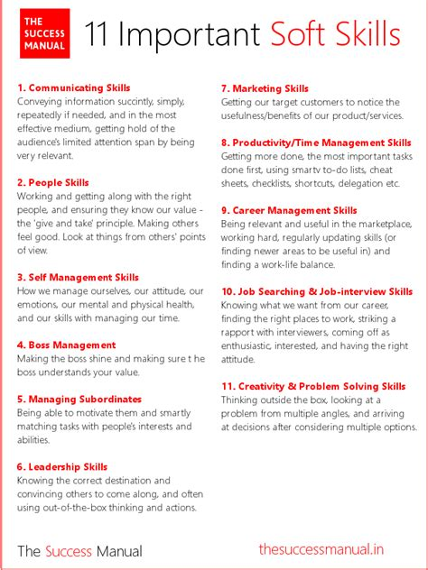 Soft Skills Activities For Mba Students by The 11 Kinds Of Soft Skills You Need To Succeed In Career