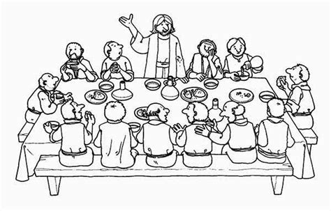 jesus last supper free colouring pages