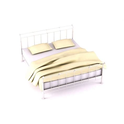 metal bed set metal retro bed set 3d model cgtrader
