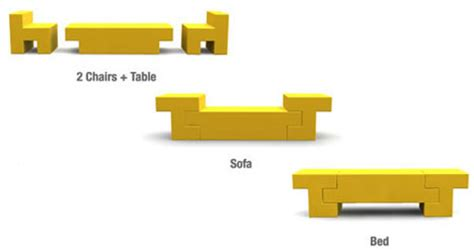 sofa bed table combo room in a box 10 pieces of clever transforming furniture