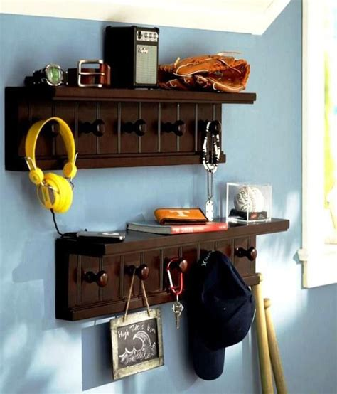 Buy On Shelf by Behome Brown Wall Shelf Buy 1 Get Hanging Shelf Free Buy