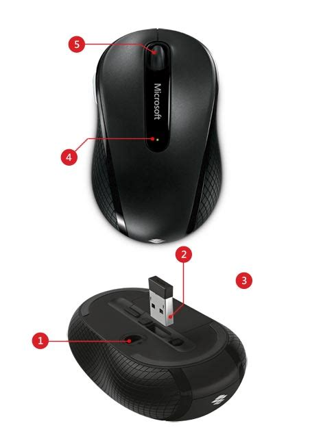 Microsoft Wireless Mobile Mouse 4000 wireless mouse 4000 microsoft accessories