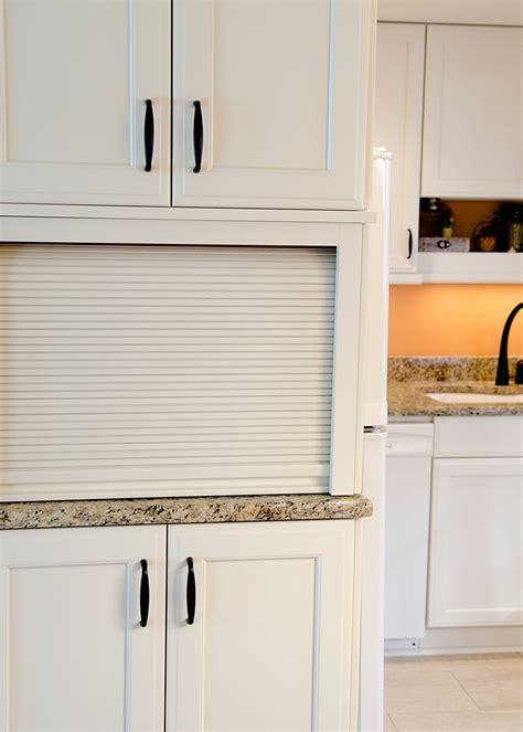 Microwave Cella appliance garage kitchens design by cella