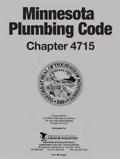 Minnesota Plumbing Code minnesota plumbing code