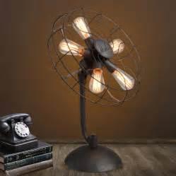 vintage style desk fan steunk vintage style desk fan and light giftageek