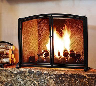 pb classic fireplace single screen pottery barn