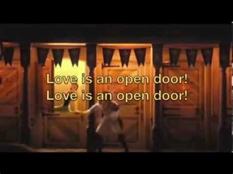 Is An Open Door Karaoke by Is An Open Door From Frozen Instrumental Karaoke With Lyrics