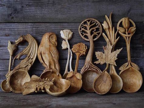 nature inspired wooden spoons  giles newman designwrld
