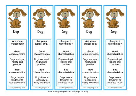 new year animal characteristics printable year of the bookmark