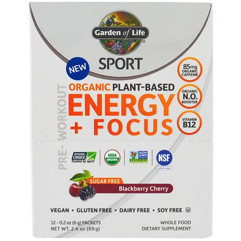 Garden Of Sport Energy And Focus Pre Workout Packets Eoua