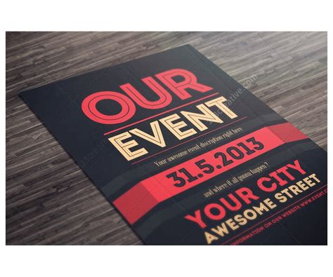 design event poster photoshop event flyer template psd clean minimal and modern theme