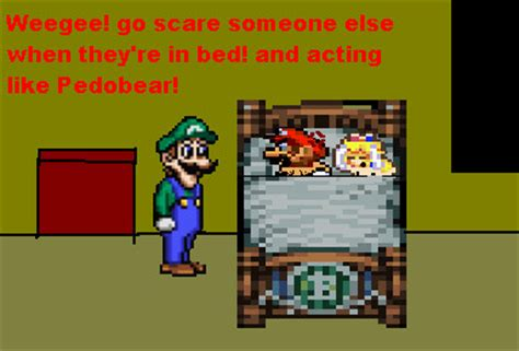 mario and peach in bed mario and peach are disturbed by bronzethehedgehog on