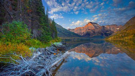 wallpaper lake josephine glacier national park montana