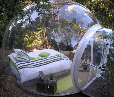 bubble bed would you sleep in this bubble bed surrounded by nature