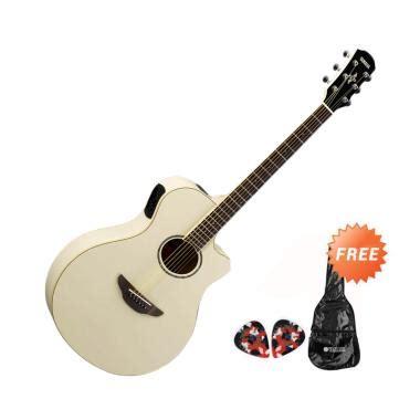 Gitar Akustik Elektrik Yamaha Apx New Wood jual yamaha apx600 gitar akustik elektrik vintage white free softcase 2