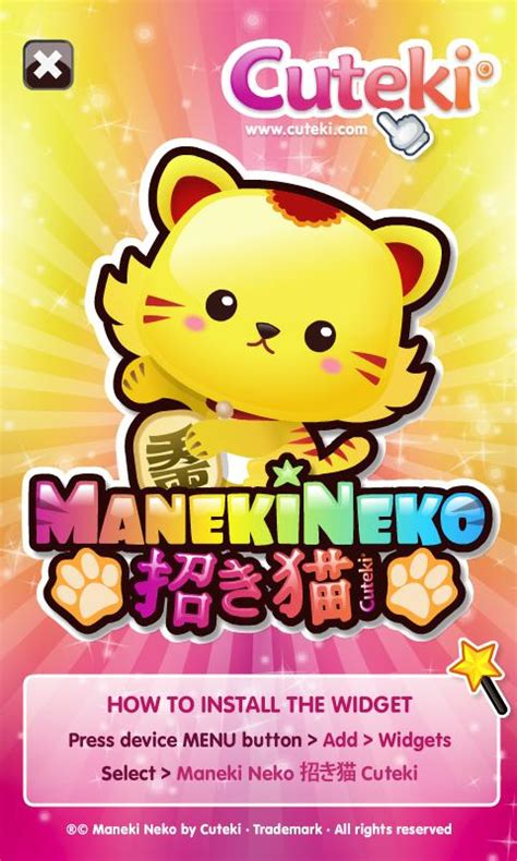 cute kawaii theme android apps on google play kawaii lucky cat maneki neko android apps on google play