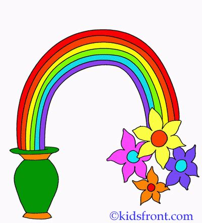 what are the seven colors of the rainbow seven colour rainbow coloring pages printable