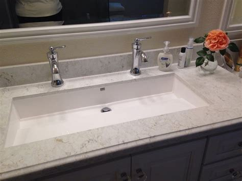 undermount trough bathroom sink master bathroom wymara 2 trough sink by mti installed